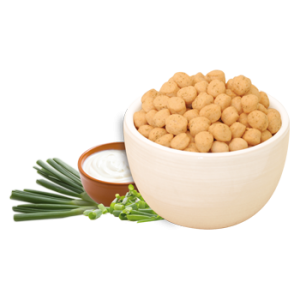 Sour Cream and Onion Soy Puffs